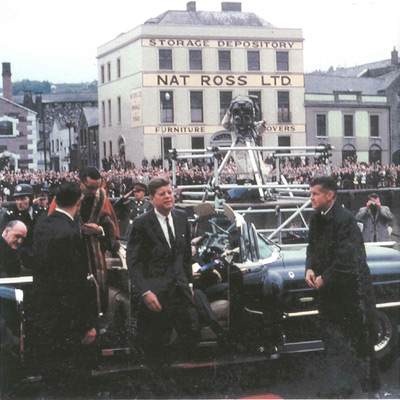 The visit of United States President John F.Kennedy to Cork in June 1963, like the look of the building in the background!